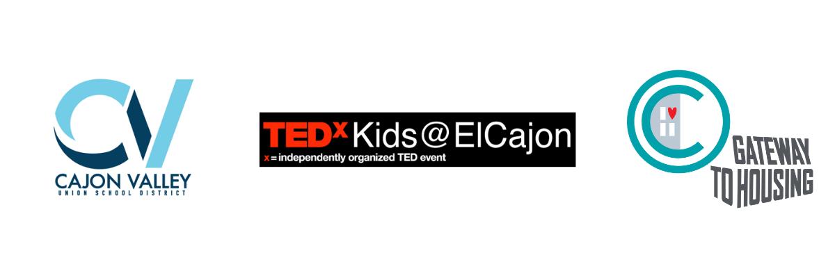 Image of logo for TEDx Kids El Cajon, Cajon Valley School District and Non Profit in Orange County, CA