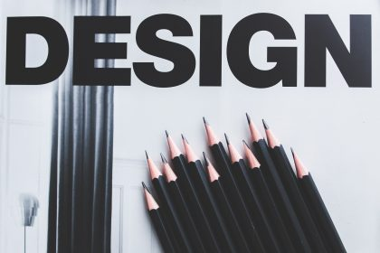 Image of Design and use of typography, color and composition. by Kaboompics